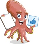 Octopus Cartoon Vector Character AKA BrainDon - Notepad 1