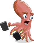 Octopus Cartoon Vector Character AKA BrainDon - Briefcase 3