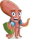 Octopus Cartoon Vector Character AKA BrainDon - Travel 2