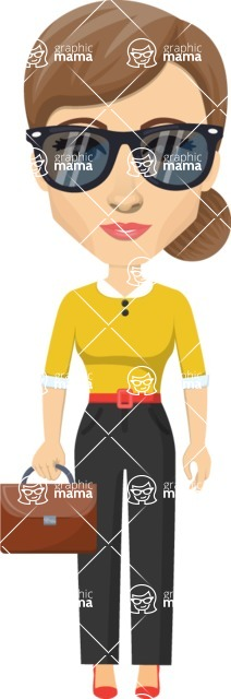 Vector graphic creation kit - all kinds of office women, with different duties, personalities, clothes, hair, accessories. Make a woman creation pack - Pose 2