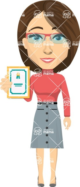 Vector graphic creation kit - all kinds of office women, with different duties, personalities, clothes, hair, accessories. Make a woman creation pack - Pose 25