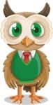 Owl Teacher Cartoon Vector Character AKA Professor CleverHoot - Normal