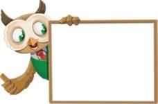 Owl Teacher Cartoon Vector Character AKA Professor CleverHoot - Presentation 5