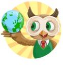 Owl Teacher Cartoon Vector Character AKA Professor CleverHoot - Shape 3