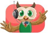 Owl Teacher Cartoon Vector Character AKA Professor CleverHoot - Shape 4