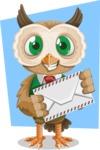Owl Teacher Cartoon Vector Character AKA Professor CleverHoot - Shape 6