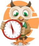 Owl Teacher Cartoon Vector Character AKA Professor CleverHoot - Shape 7