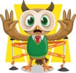 Owl Teacher Cartoon Vector Character AKA Professor CleverHoot - Shape 8