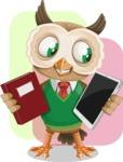 Owl Teacher Cartoon Vector Character AKA Professor CleverHoot - Shape 10