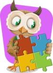 Owl Teacher Cartoon Vector Character AKA Professor CleverHoot - Shape 11