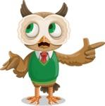 Owl Teacher Cartoon Vector Character AKA Professor CleverHoot - DirectAttention 2