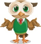 Owl Teacher Cartoon Vector Character AKA Professor CleverHoot - Sorry