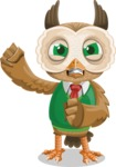 Owl Teacher Cartoon Vector Character AKA Professor CleverHoot - Angry