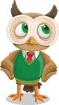 Owl Teacher Cartoon Vector Character AKA Professor CleverHoot - Roll Eyes