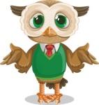 Owl Teacher Cartoon Vector Character AKA Professor CleverHoot - Lost