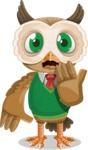Owl Teacher Cartoon Vector Character AKA Professor CleverHoot - Oops
