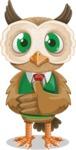 Owl Teacher Cartoon Vector Character AKA Professor CleverHoot - Patient