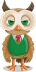 Owl Teacher Cartoon Vector Character AKA Professor CleverHoot - Bored