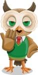 Owl Teacher Cartoon Vector Character AKA Professor CleverHoot - Bored 2