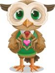 Owl Teacher Cartoon Vector Character AKA Professor CleverHoot - Show Love