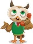 Owl Teacher Cartoon Vector Character AKA Professor CleverHoot - Support