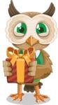 Owl Teacher Cartoon Vector Character AKA Professor CleverHoot - Gift