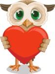 Owl Teacher Cartoon Vector Character AKA Professor CleverHoot - Love
