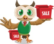 Owl Teacher Cartoon Vector Character AKA Professor CleverHoot - Sale