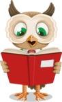 Owl Teacher Cartoon Vector Character AKA Professor CleverHoot - Book 1