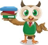 Owl Teacher Cartoon Vector Character AKA Professor CleverHoot - Book 2