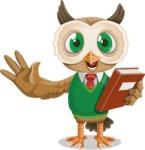 Owl Teacher Cartoon Vector Character AKA Professor CleverHoot - Book 3