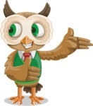 Owl Teacher Cartoon Vector Character AKA Professor CleverHoot - Showcase