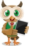 Owl Teacher Cartoon Vector Character AKA Professor CleverHoot - iPad 1