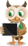 Owl Teacher Cartoon Vector Character AKA Professor CleverHoot - iPad 2