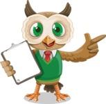 Owl Teacher Cartoon Vector Character AKA Professor CleverHoot - Notepad 1