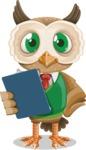 Owl Teacher Cartoon Vector Character AKA Professor CleverHoot - Notepad 2