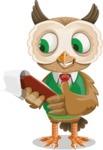 Owl Teacher Cartoon Vector Character AKA Professor CleverHoot - Notepad 3