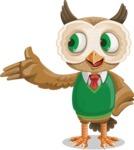 Owl Teacher Cartoon Vector Character AKA Professor CleverHoot - Showcase 2