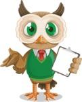 Owl Teacher Cartoon Vector Character AKA Professor CleverHoot - Notepad 4