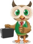 Owl Teacher Cartoon Vector Character AKA Professor CleverHoot - Briefcase 1