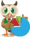 Owl Teacher Cartoon Vector Character AKA Professor CleverHoot - Chart