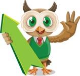 Owl Teacher Cartoon Vector Character AKA Professor CleverHoot - Pointer 1