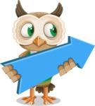Owl Teacher Cartoon Vector Character AKA Professor CleverHoot - Pointer 2