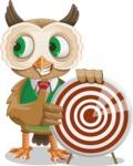 Owl Teacher Cartoon Vector Character AKA Professor CleverHoot - Target