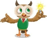 Owl Teacher Cartoon Vector Character AKA Professor CleverHoot - Idea 1