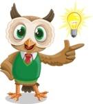 Owl Teacher Cartoon Vector Character AKA Professor CleverHoot - Idea 2