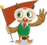 Owl Teacher Cartoon Vector Character AKA Professor CleverHoot - Checkpoint