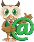 Owl Teacher Cartoon Vector Character AKA Professor CleverHoot - Email