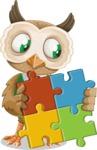 Owl Teacher Cartoon Vector Character AKA Professor CleverHoot - Puzzle