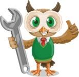 Owl Teacher Cartoon Vector Character AKA Professor CleverHoot - Repair